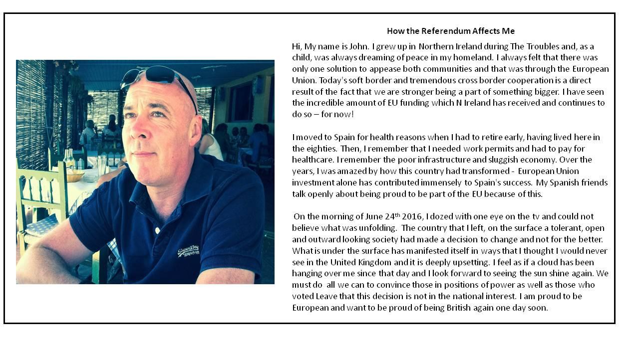 John Moffat Testimonial