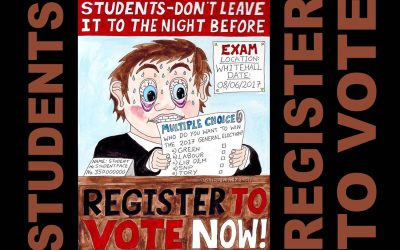 Students Register to Vote before it's too Late