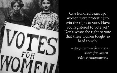The vote that these women fought so hard to win!