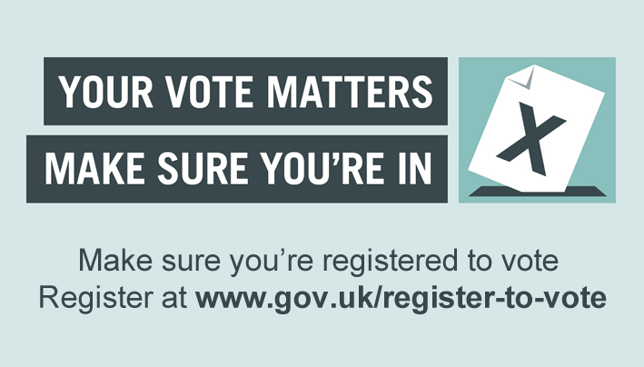General Election June 8th – Are you Registered to Vote?