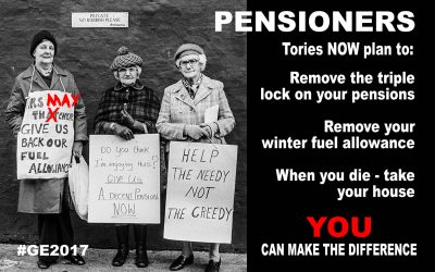 Pensioners – Don't be fooled – Vote Wisely!