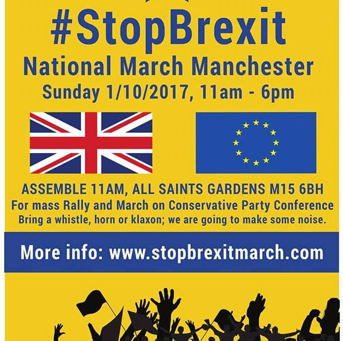 Bremain in Spain protestors to march in Manchester to 'Stop Brexit'