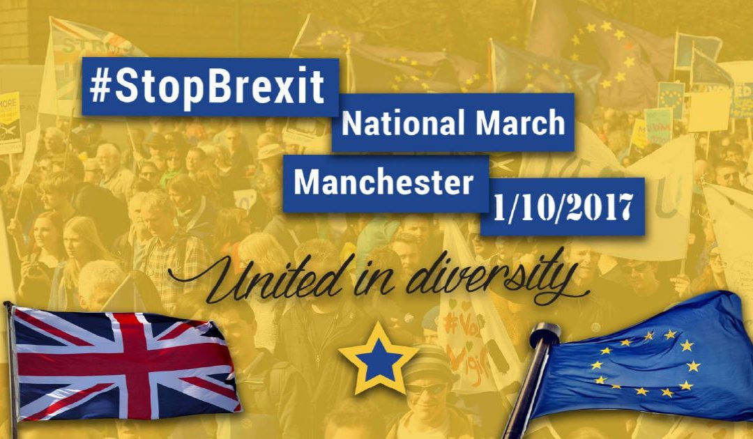 Stop Brexit March Manchester – The Countdown Begins