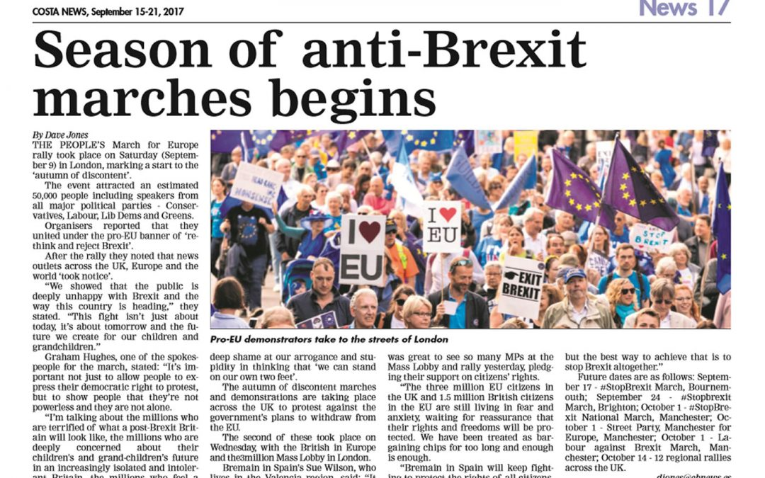 Season of Anti-Brexit Marches Begins