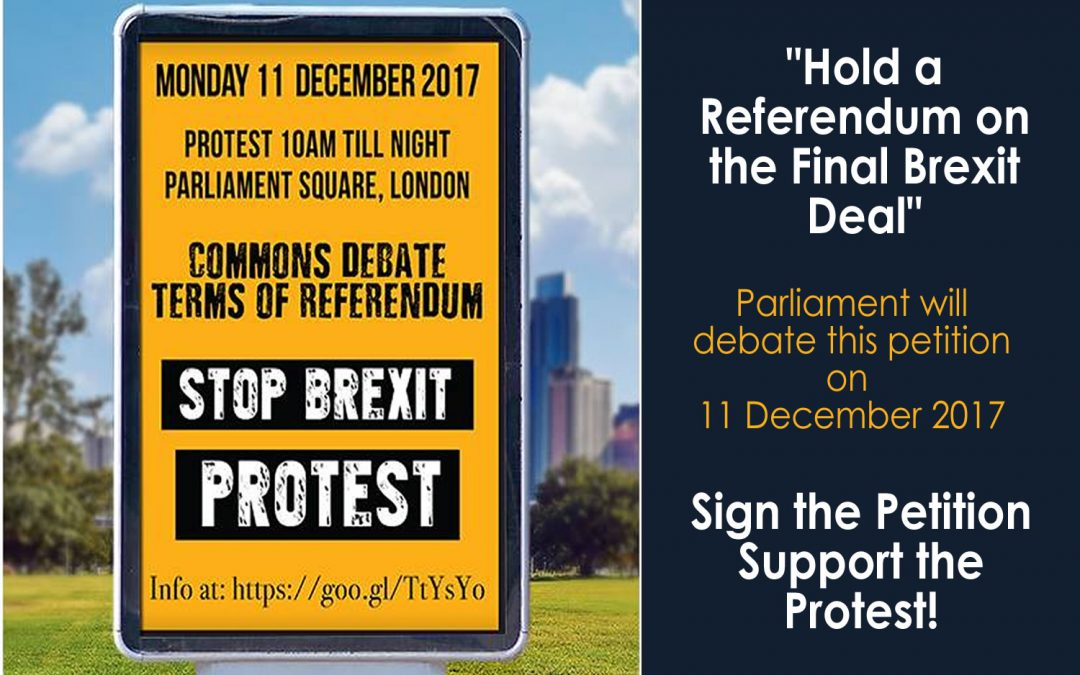 #StopBrexit Protest: 'Terms Of Referendum' 11th December '17