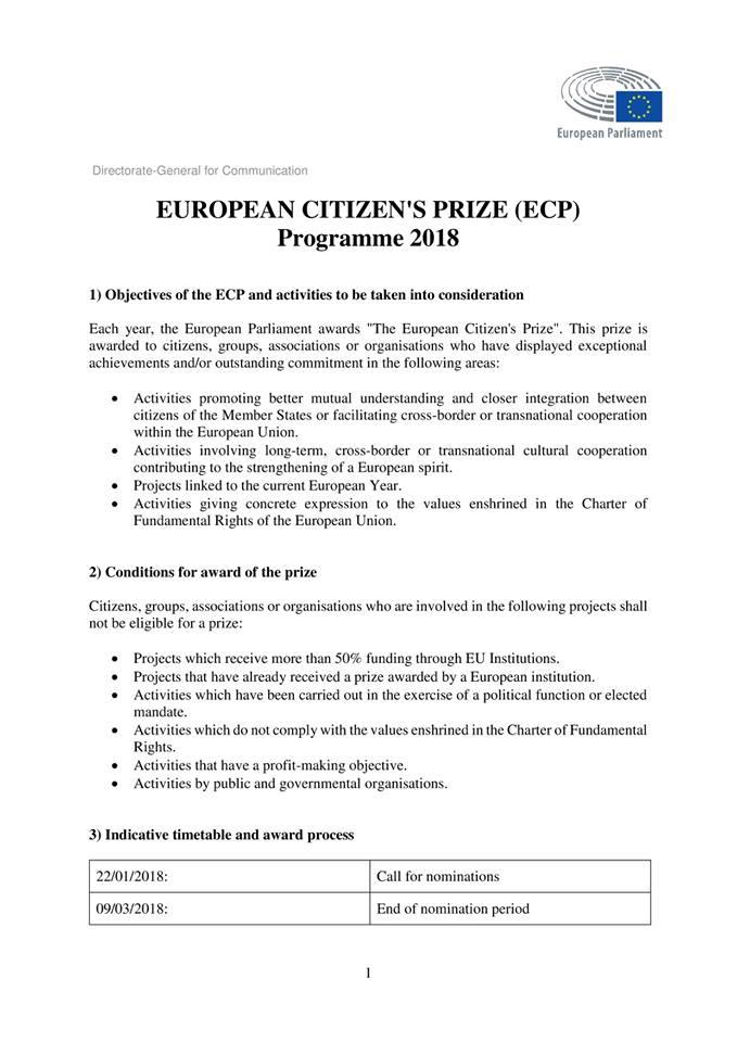 European Citizens Prize 1