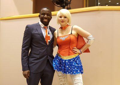 Femi from OFOC and EU Supergirl Madeleina Kay