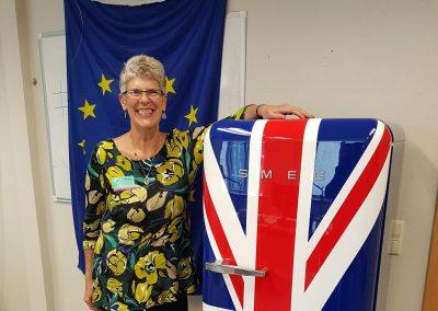 Sue at Guy Verhofstadt's fridge