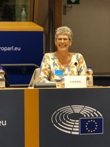 Sue on panel at European Parliament