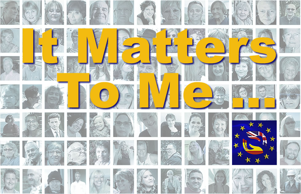 It Matters To Me ….