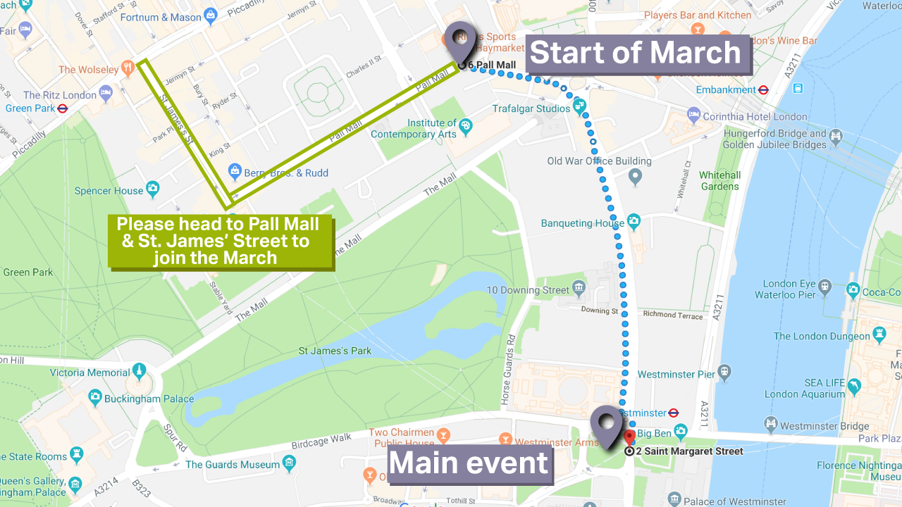 Peoples Vote March Route