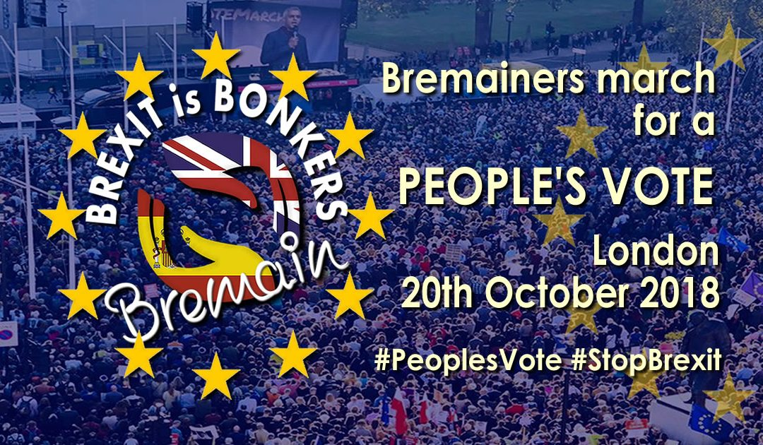 Fifty plus Bremainers march for a #PeoplesVote