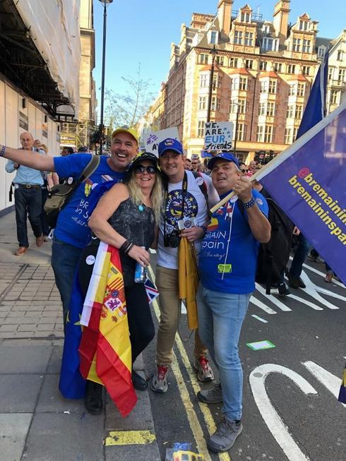 Brits from Malaga and Granada take part in biggest anti-Brexit march since referendum