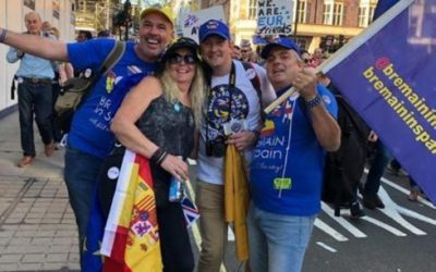 British residents in Malaga travel to London for the Put it to the People march