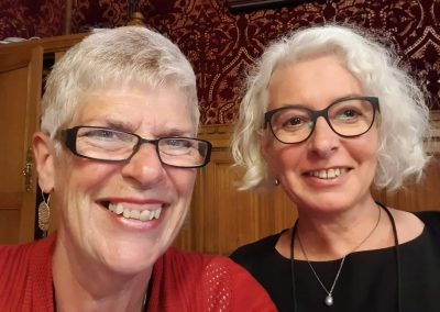 Sue and Jane Golding, British in Europe