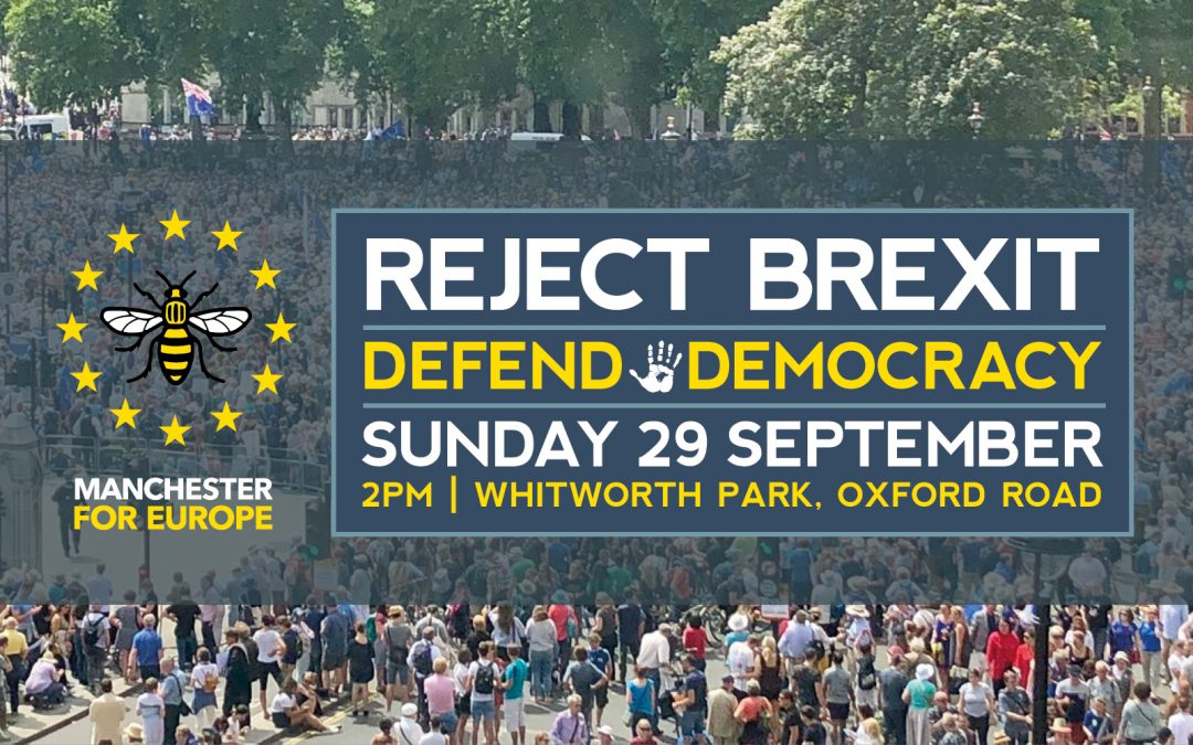 Manchester 'Defend Our Democracy' Rally Sunday Sept 29 2019