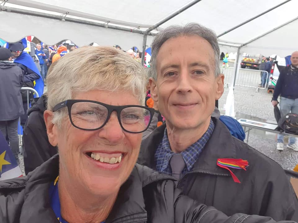 Sue with Peter Tatchell