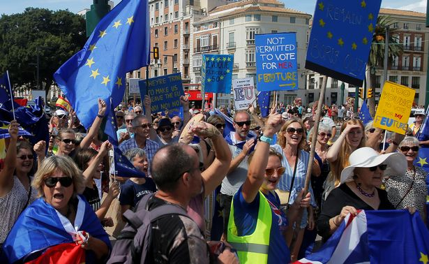 Britons in Spain protest against Brexit: 'The UK government has forgotten us'
