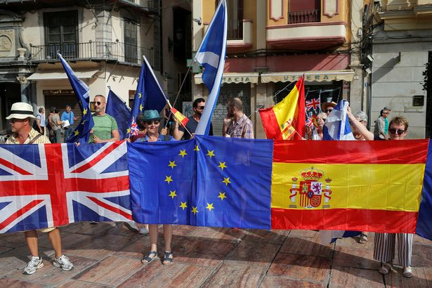 Brexit: Brit expats in Malaga stage huge protest saying 'UK has forgotten us'